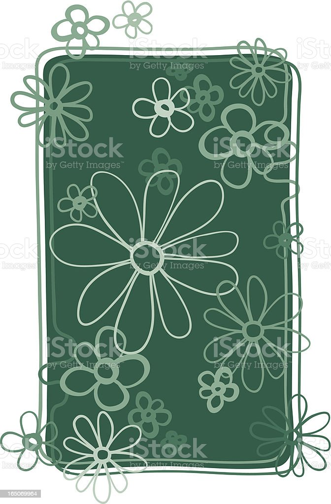 Teal Flower Filled Design royalty-free stock vector art