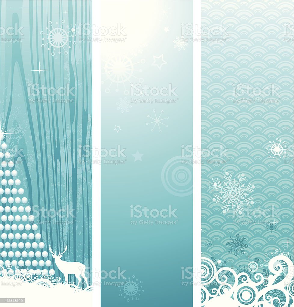 Teal vertical banners with holiday elements royalty-free stock vector art