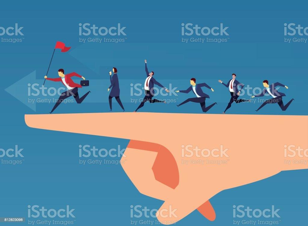 Team and leadership vector art illustration
