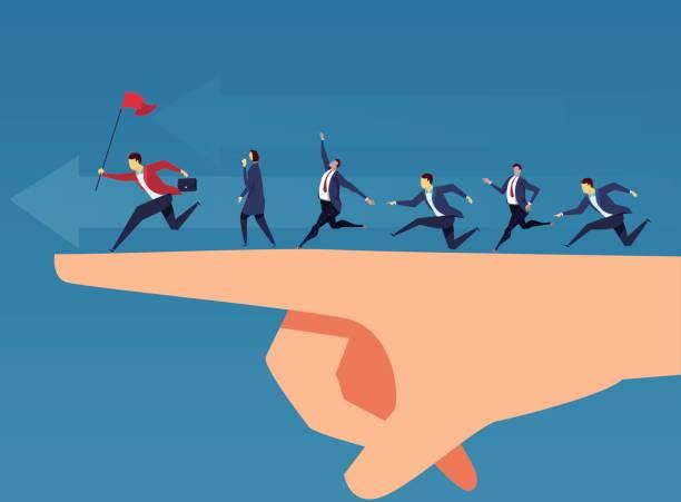 illustrazioni stock, clip art, cartoni animati e icone di tendenza di team and leadership - guida turistica professione