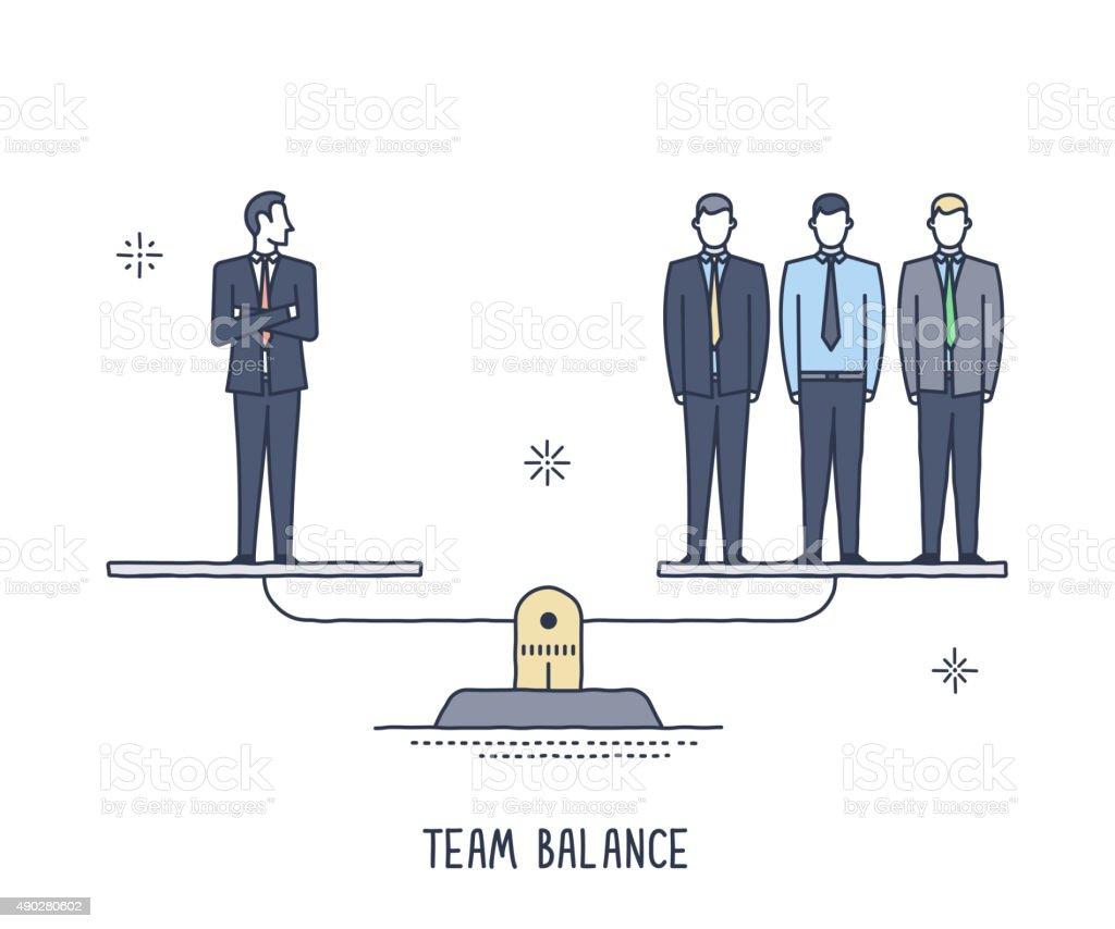 Team Balance vector art illustration