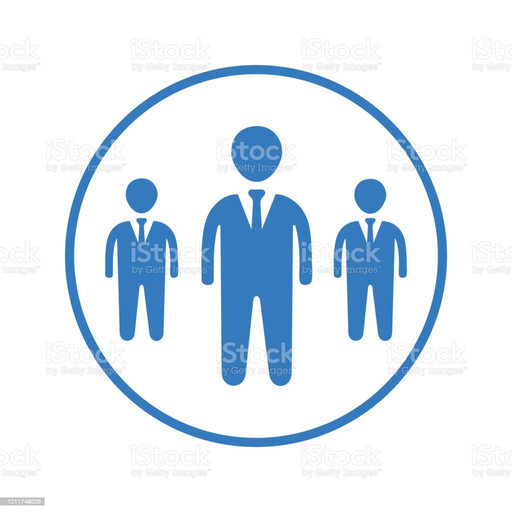 Team Blue Icon Group Leader Community Stock Illustration Download Image Now Istock