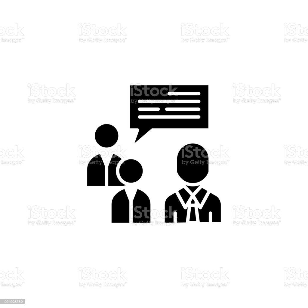 Team brainstorm black icon concept. Team brainstorm flat  vector symbol, sign, illustration. royalty-free team brainstorm black icon concept team brainstorm flat vector symbol sign illustration stock vector art & more images of adult