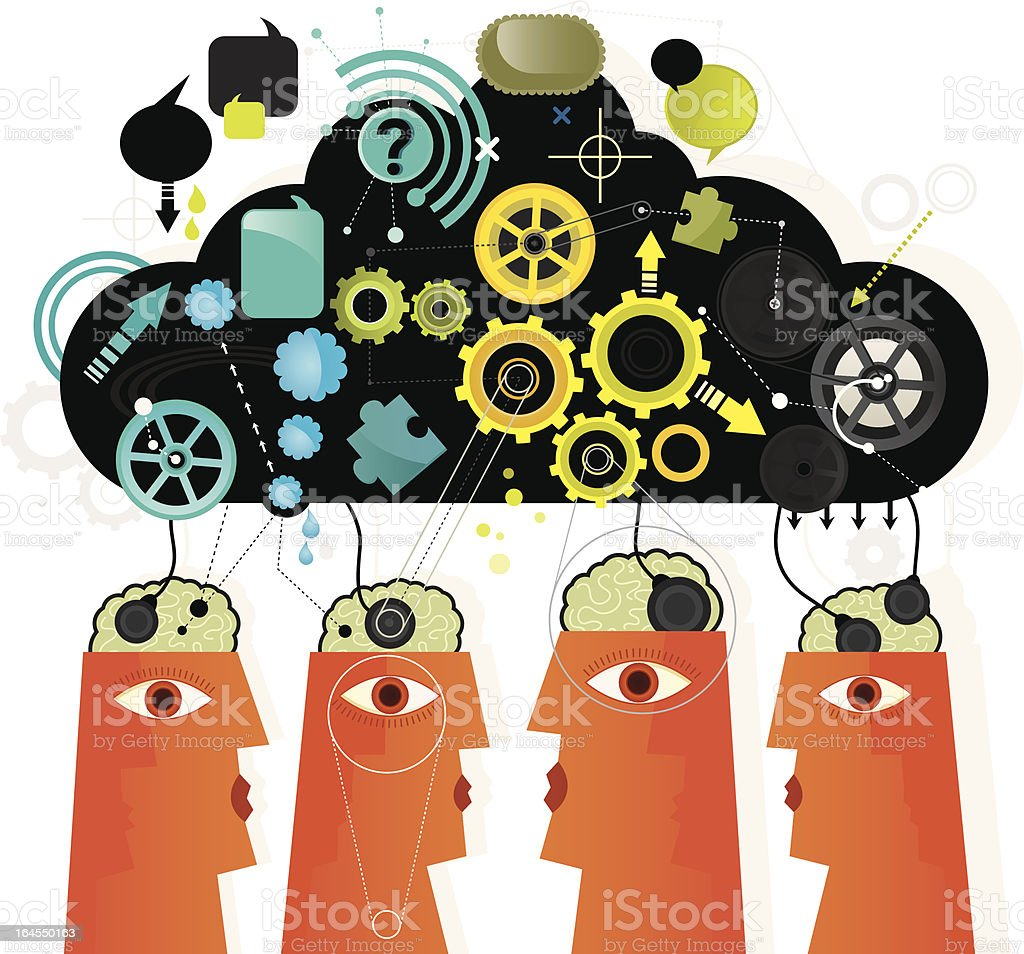 Team Brainstorming royalty-free team brainstorming stock vector art & more images of activity