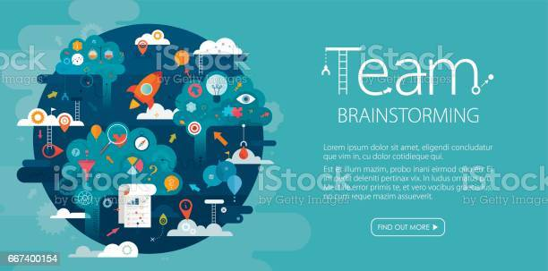 Team brainstorming web banner blue background vector id667400154?b=1&k=6&m=667400154&s=612x612&h=p0tskeiu8e5eigkismzpvlozorreqksa5p38gwplwby=