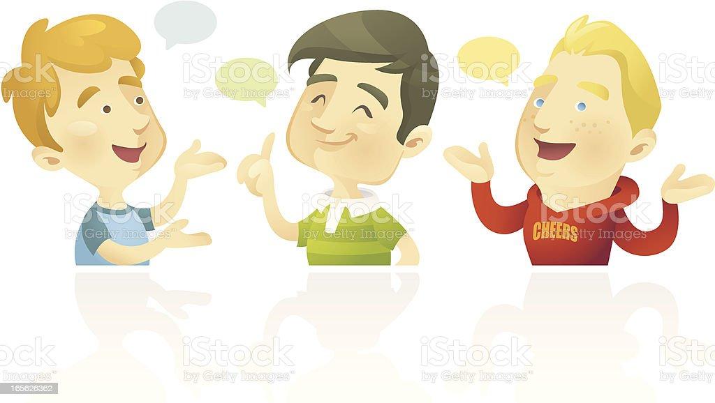 Team Bubbly (Boys) royalty-free stock vector art