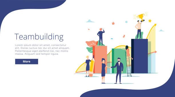 Team-building-Konzept, dass Vektor-Illustration, perfekt für Web-Design, Banner, mobile app, landing-Page, flaches design – Vektorgrafik