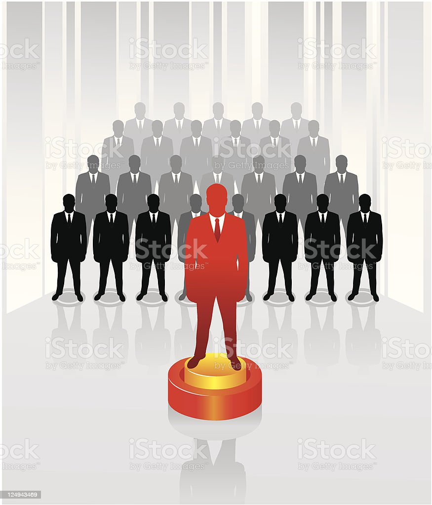 Team business concept. Leadership. royalty-free stock vector art