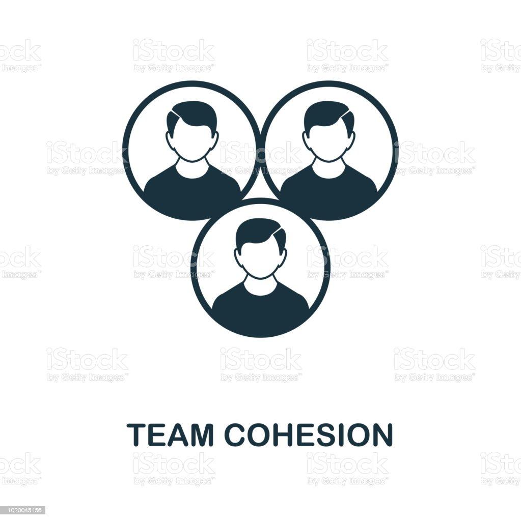 Symbol Team Zusammenhalt Monochrome Style Icondesign Von
