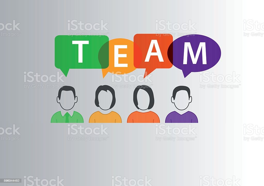 Team concept as vector illustration of group of diverse workforce royalty-free team concept as vector illustration of group of diverse workforce stock vector art & more images of adult