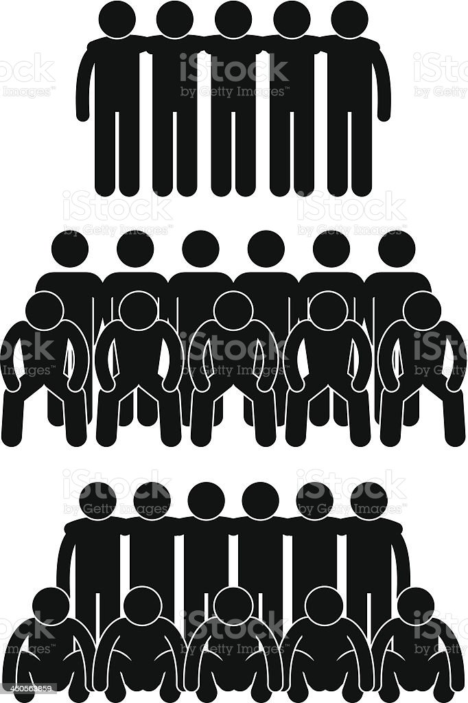 Team Group Teammate Teamwork Pictogram vector art illustration