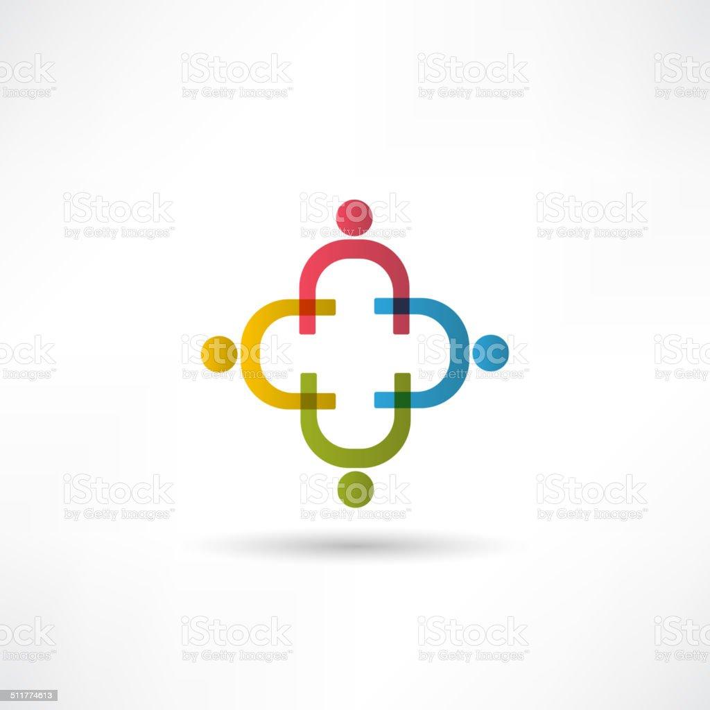 team icon vector art illustration