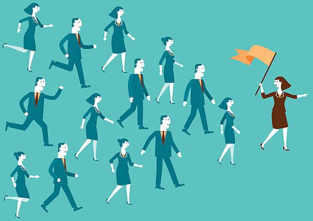 team leader sie der/neue biz - anleitung konzepte stock-grafiken, -clipart, -cartoons und -symbole
