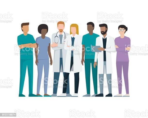 Team Av Läkare-vektorgrafik och fler bilder på Afrikanskt ursprung
