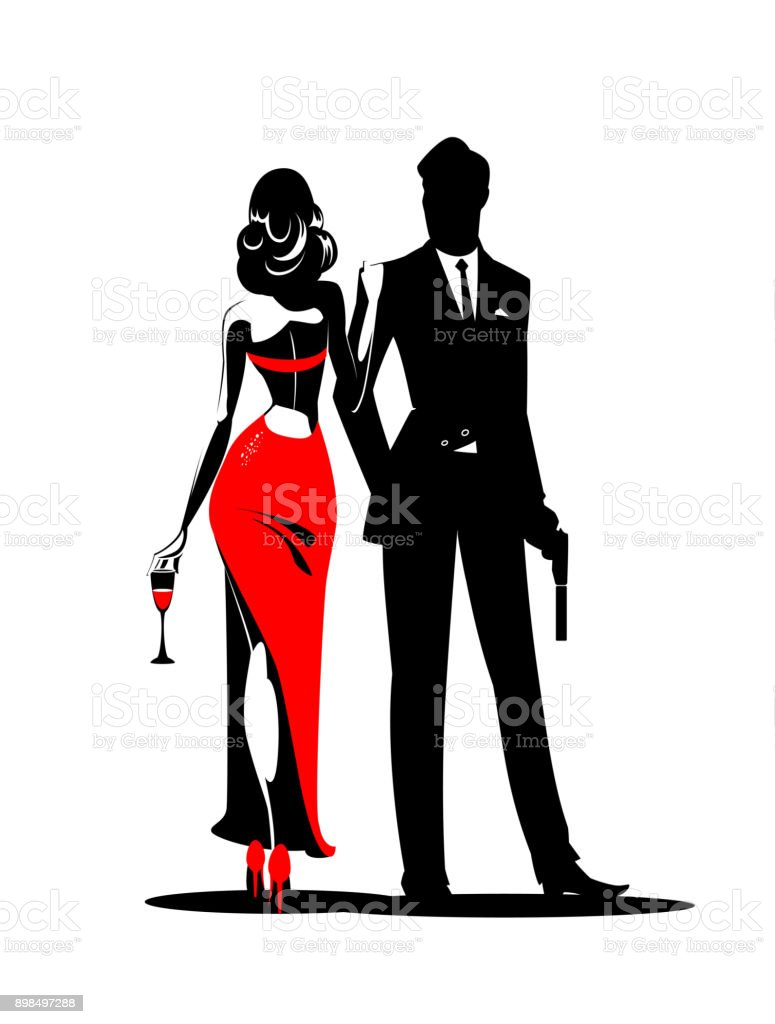 royalty free secret agent man clip art vector images rh istockphoto com clip art manga clipart mania
