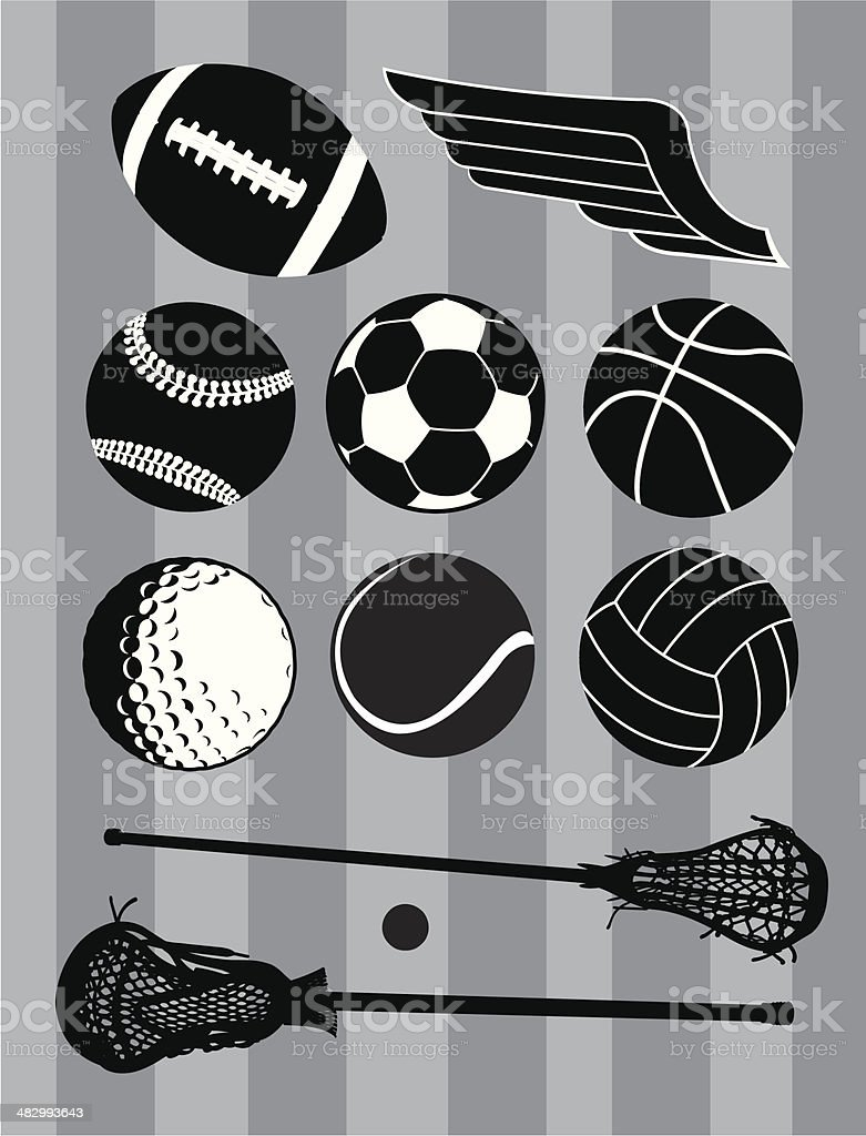 Team Sports Balls, Football, Baseball, Lacrosse, Basketball, Golf,...