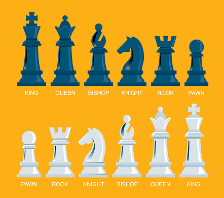 Team with chess pieces