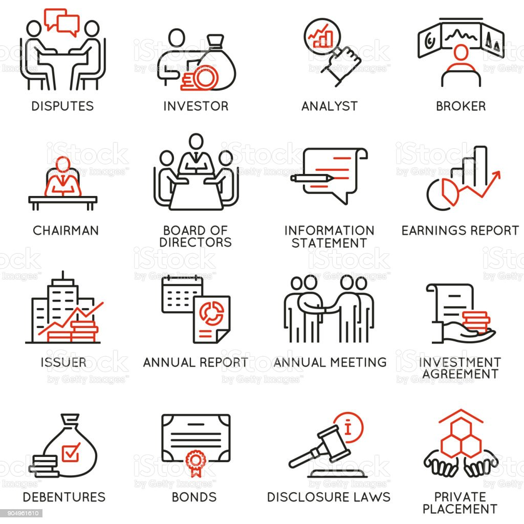 Team work and stakeholders icons - part 2 vector art illustration