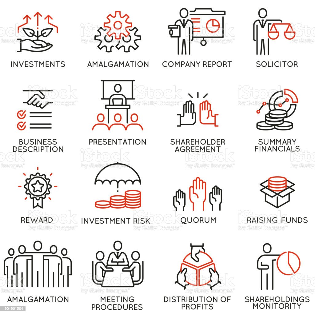 Team work and stakeholders icons - part 3