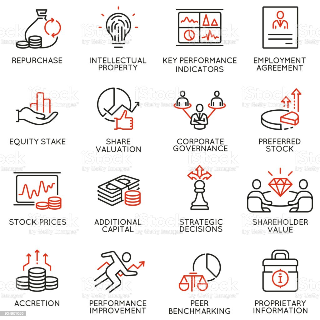 Team work and stakeholders icons - part 4