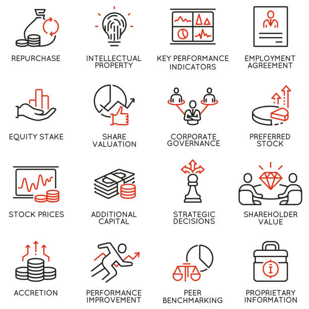 team work and stakeholders icons - part 4 - rich stock illustrations