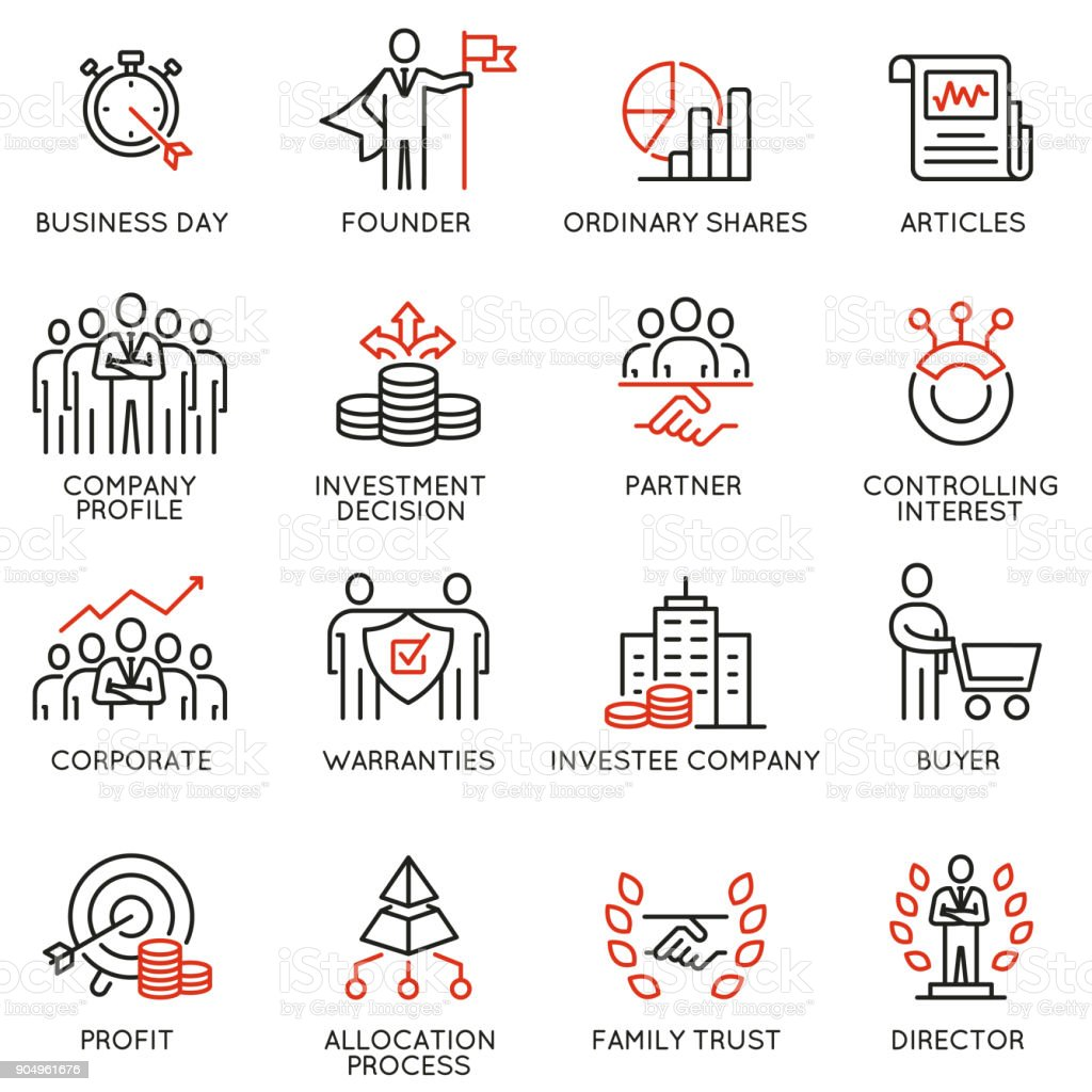 Team work and stakeholders icons - part 5 vector art illustration