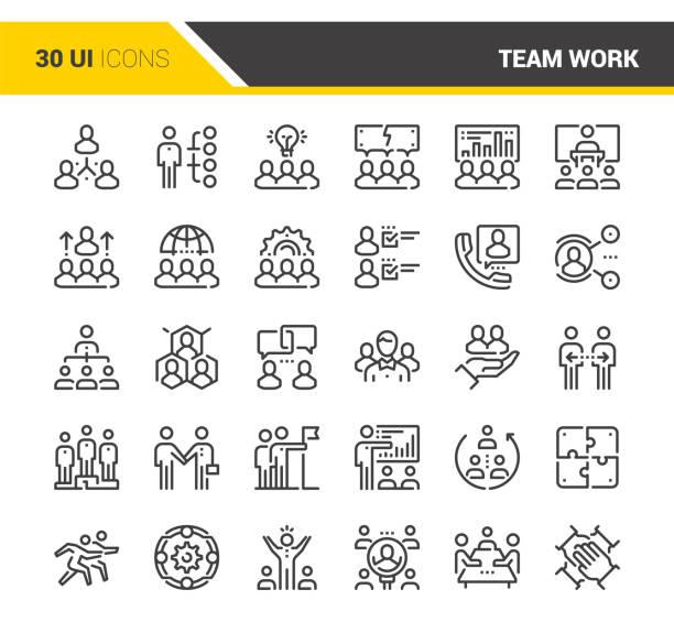 Team-Arbeit-Symbole – Vektorgrafik