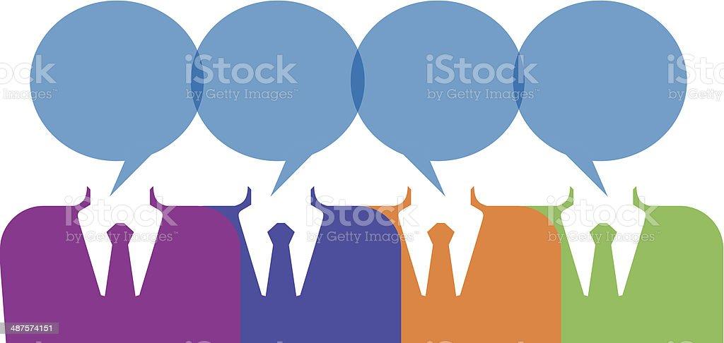 team work idea speech bubbles royalty-free team work idea speech bubbles stock vector art & more images of adult