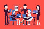 Team work in office