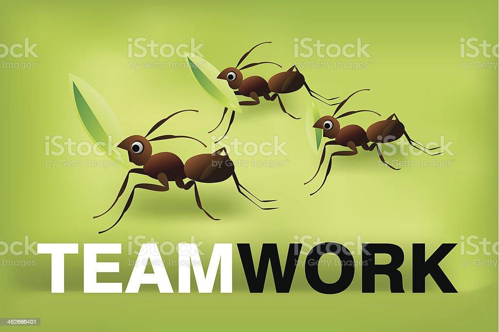 Team Work Spirit royalty-free stock vector art