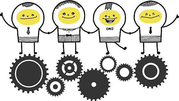 Travail d'équipe - Illustration vectorielle