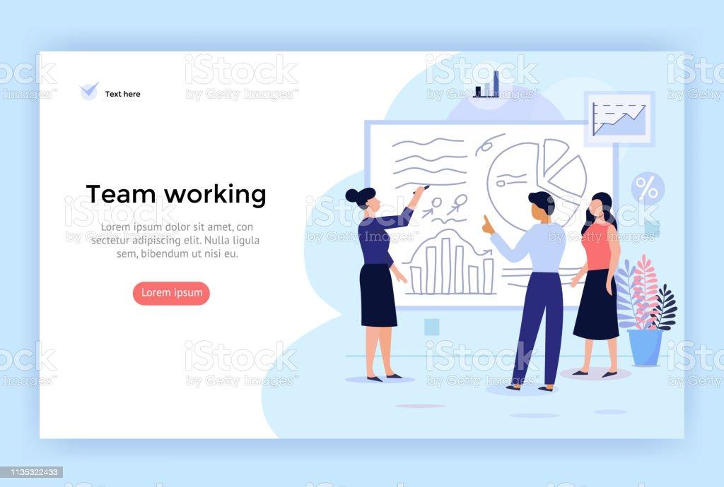 Team-Arbeitskonzept Illustration. - Lizenzfrei Akademisches Lernen Vektorgrafik