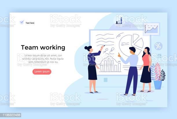 Teamarbeitskonzept Illustration Stock Vektor Art und mehr Bilder von Akademisches Lernen