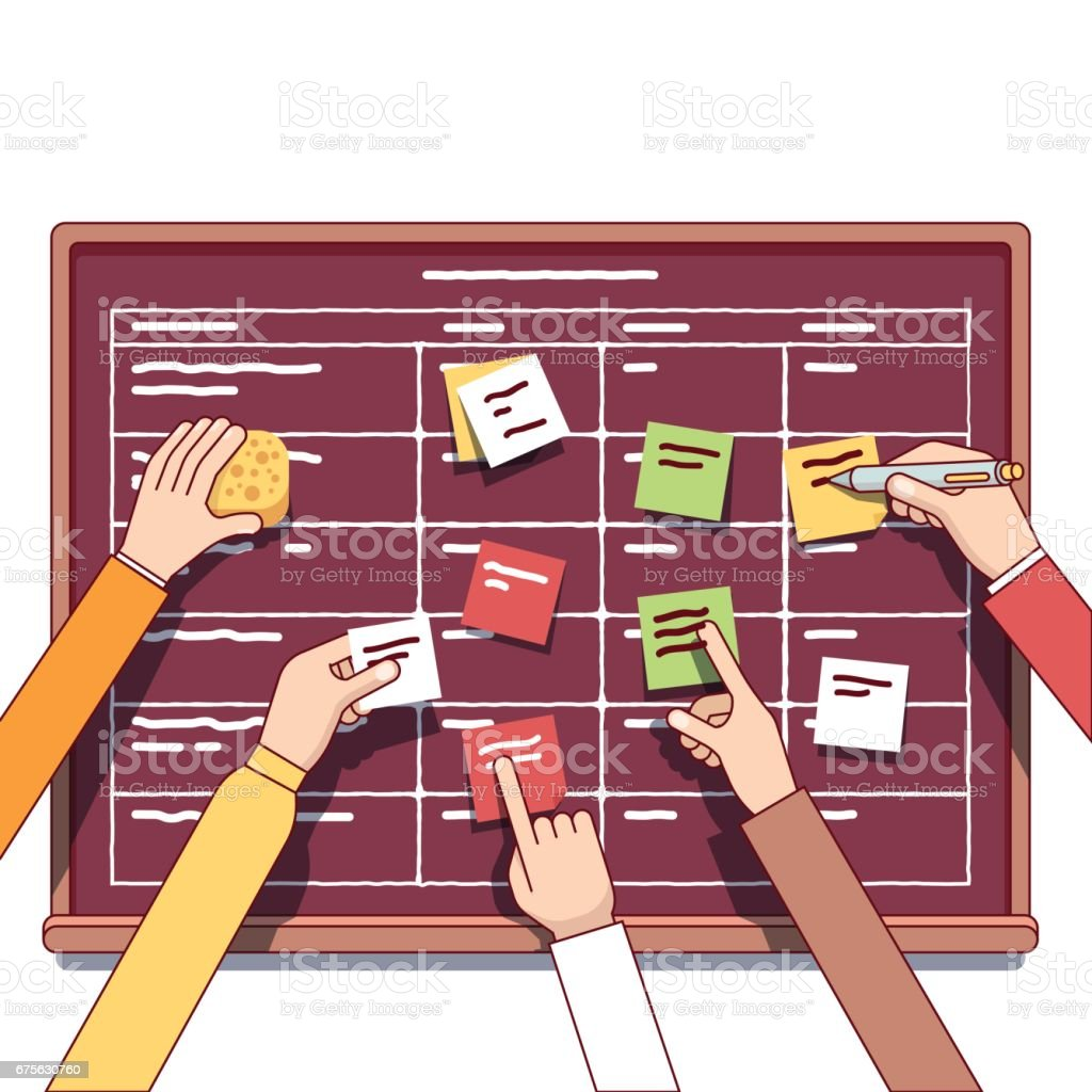 Team working together on a IT startup business royalty-free team working together on a it startup business stock vector art & more images of adult