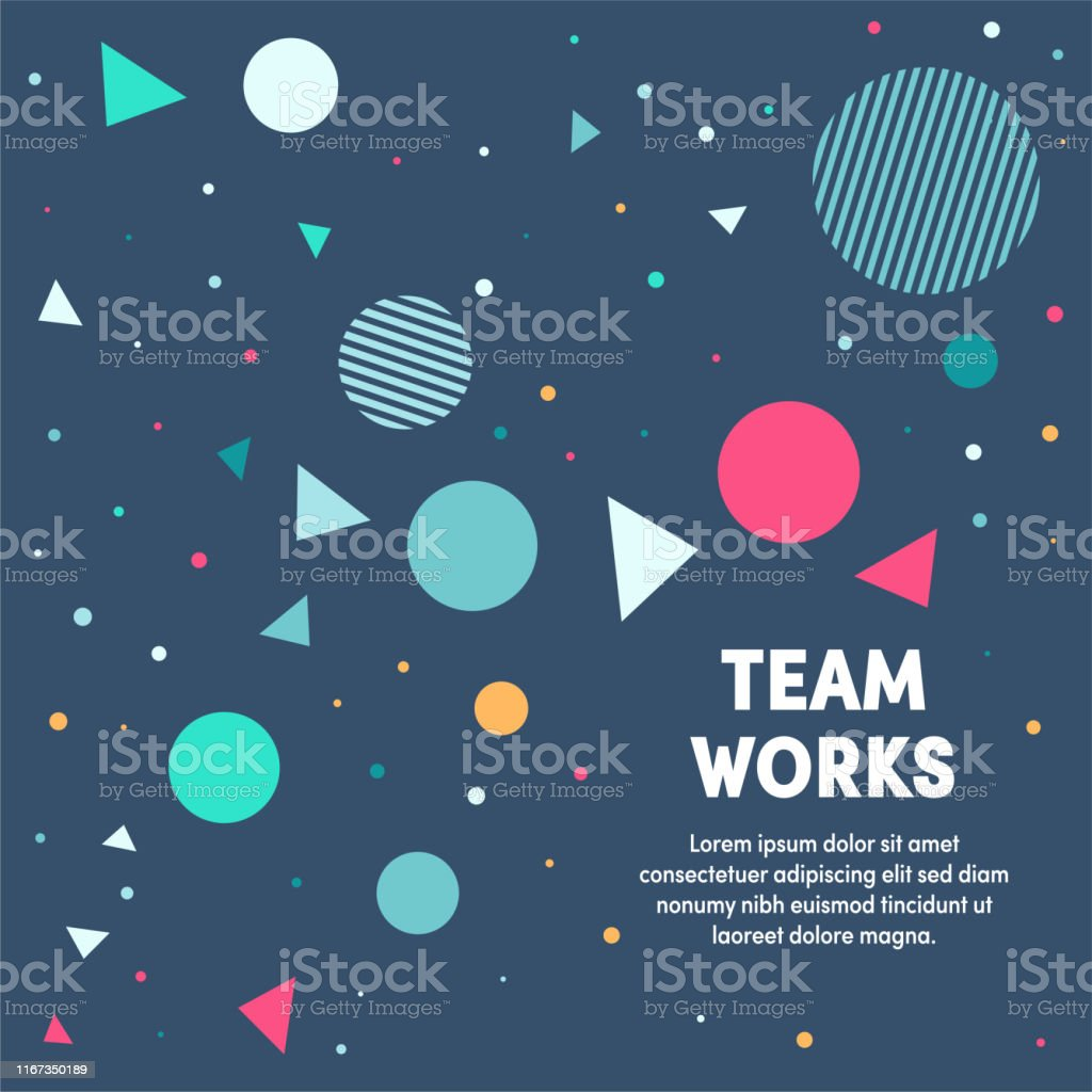 Modern design layout template for team works cover design for web...