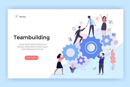 Teambuilding concept illustration. clipart