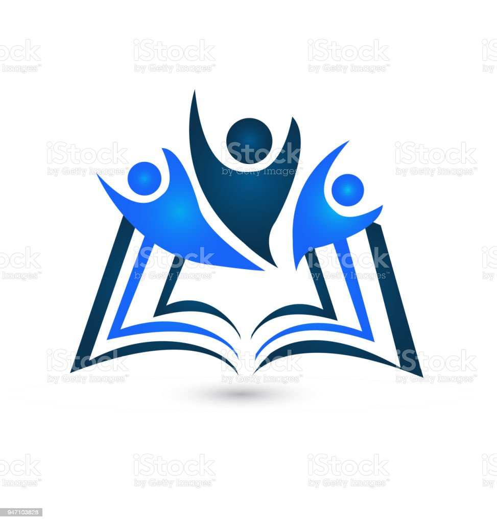 Teamwork Book Icon Vector Education Template Creative Id Card ...