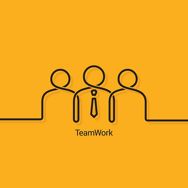 Travail d'équipe affaires concept de design arrière-plan - Illustration vectorielle