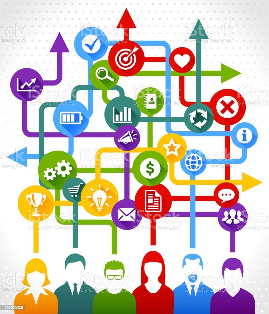 Teamwork Zusammenarbeit Stock Vektor Art und mehr Bilder ...