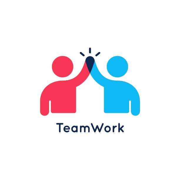 teamwork-konzept . teamarbeitssymbol auf weißem hintergrund - teamwork stock-grafiken, -clipart, -cartoons und -symbole