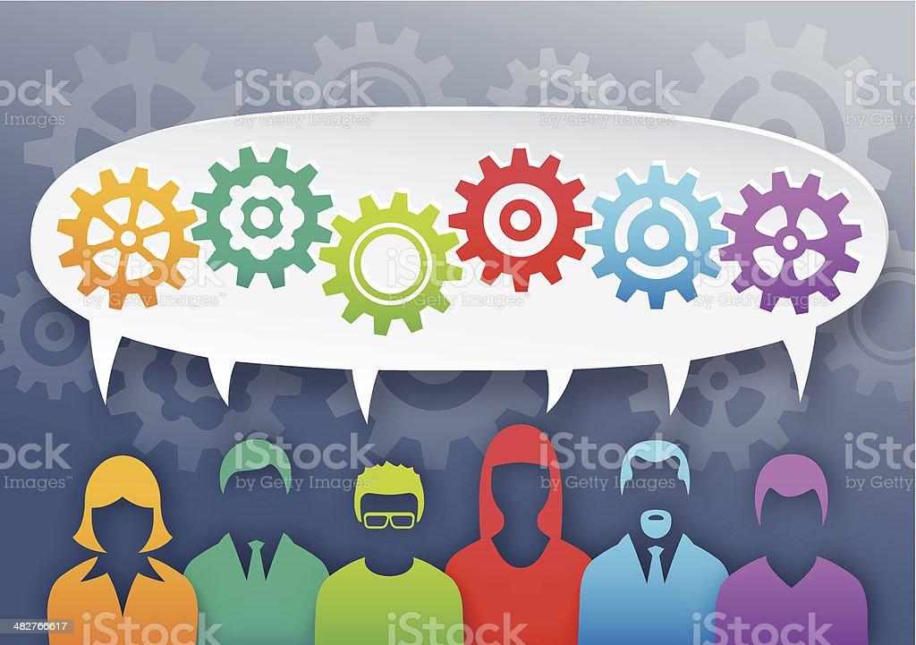 Teamwork concept royalty-free stock vector art