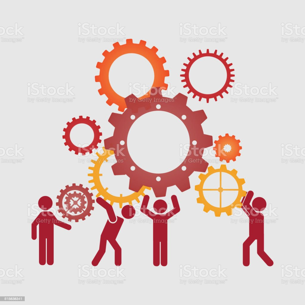 teamwork design vector art illustration