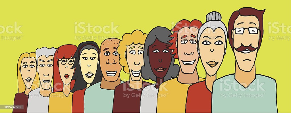 Teamwork diversity / Ethnic variation group royalty-free stock vector art