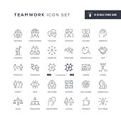 29 Teamwork Icons - Editable Stroke - Easy to edit and customize - You can easily customize the stroke with