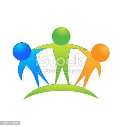Teamwork Friendship Business People Icon Stock Vector Art More