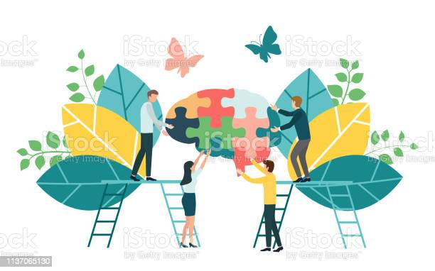 Teamwork group of people assembling a brain jigsaw puzzle concept for vector id1137065130?b=1&k=6&m=1137065130&s=612x612&h=s6b61moiz0byhxitp4ydi8ypgzoueiwevmax9kihhbs=