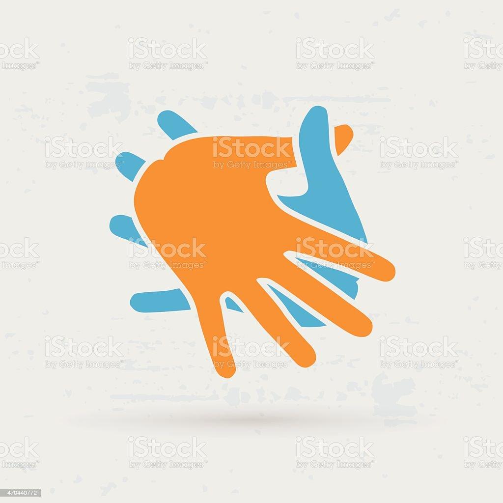 Teamwork Hands  Vector illustration. vector art illustration