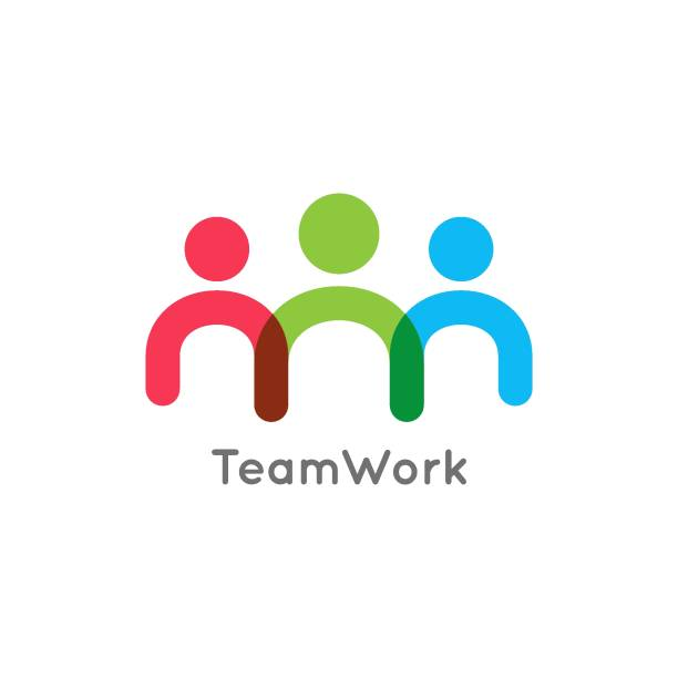 teamwork icon business concept on white background - backgrounds symbols stock illustrations
