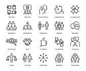 Teamwork Icon Set - Thin Line Series