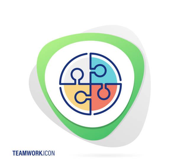 ilustrações de stock, clip art, desenhos animados e ícones de teamwork icon - inteiro